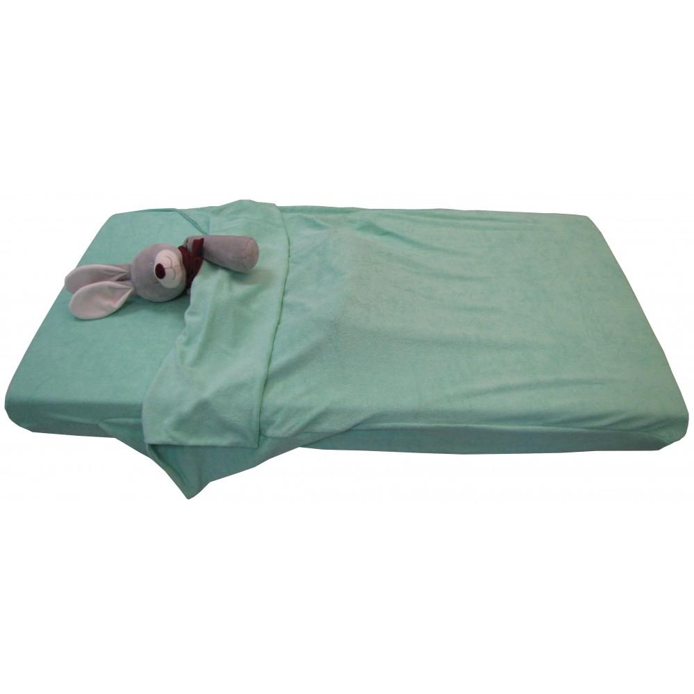 drap housse sac de couchage eponge 60x120. Black Bedroom Furniture Sets. Home Design Ideas