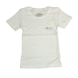 T-shirt Blanc  Love Absorba