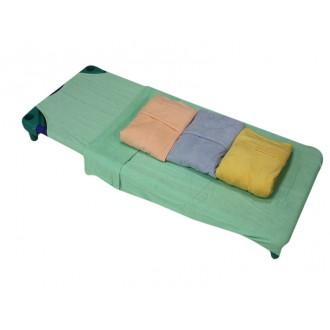 Drap plateau sac de couchage éponge 58 x 130 cm 240 gr/m²