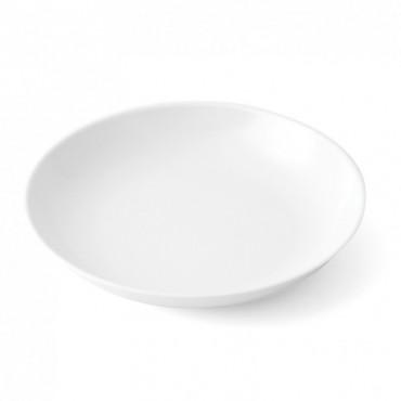 Assiette creuse mélamine blanche