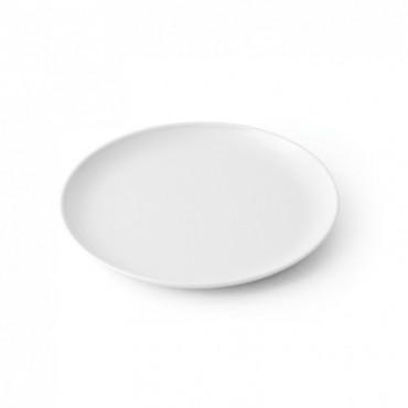 Assiette à bouillie mélamine blanche