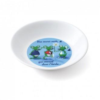 Assiette creuse souris verte lot de 12