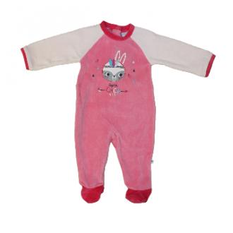 Pyjama velours Absorba Lapin Chou Rose