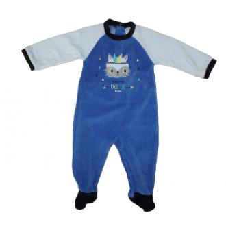 Pyjama velours Absorba Renard Doux Bleu