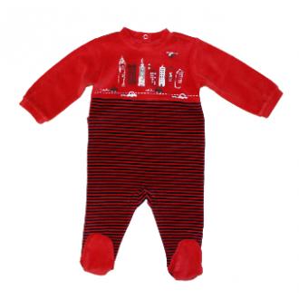 Pyjama velours Absorba Dans la Ville Rouge