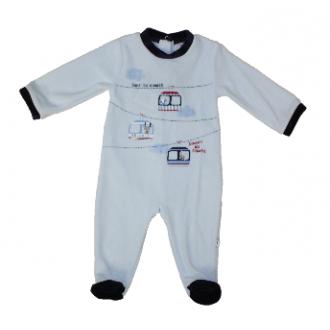 Pyjama velours Absorba Dans les Nuages Bleu