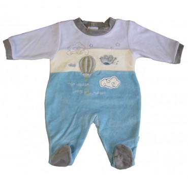 Pyjama Velours Absorba Nuages Bleu