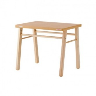 Table en bois vernis naturel enfant