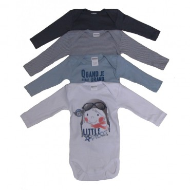 Lot de 4 body ML Absorba Little Pilote