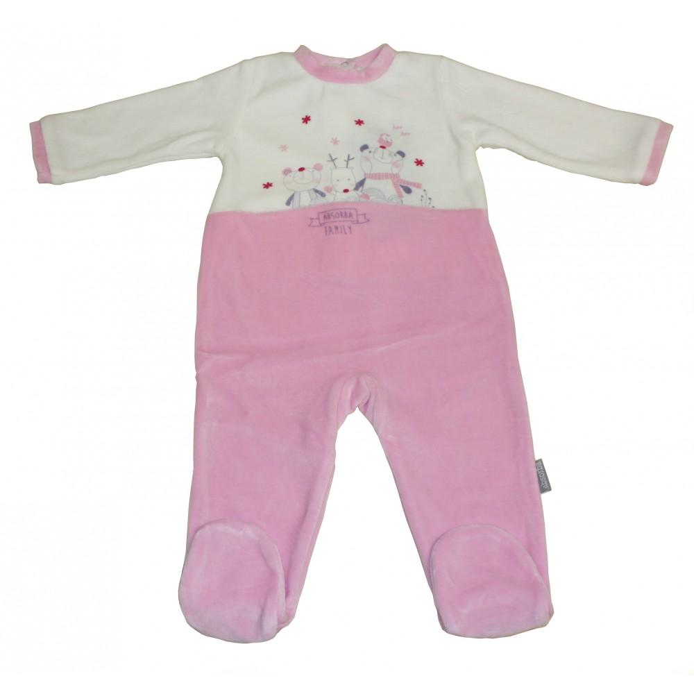 f03821b5428fe Pyjama velours Absorba Family Fille ...